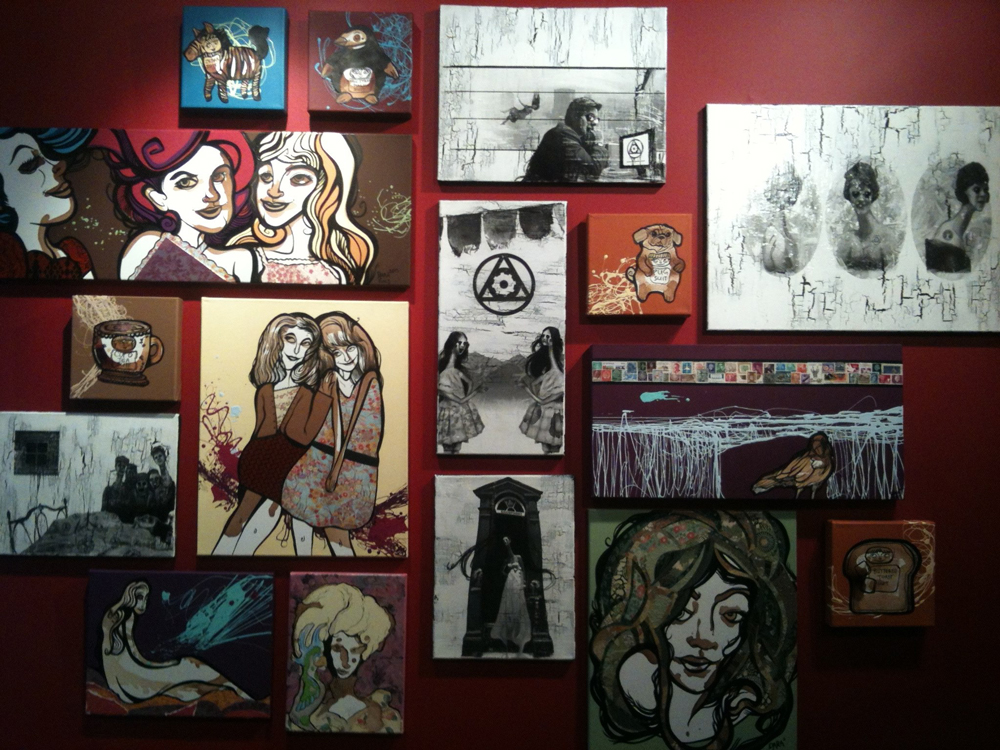 Creepy and cute art wall